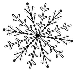Снежинка на 12 лучей