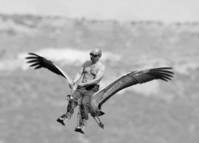 Путин на журавле мем
