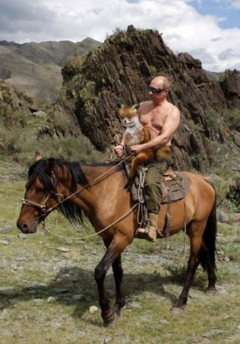 Упоротый лис и Путин на коне