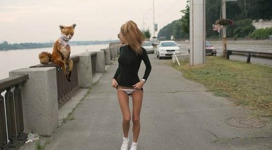 Упоротая лисичка и бегущая девушка