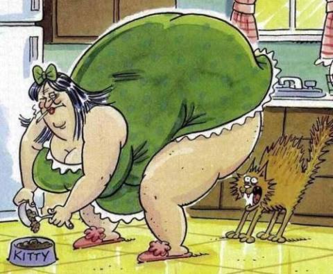 Толстая и страшная девушка