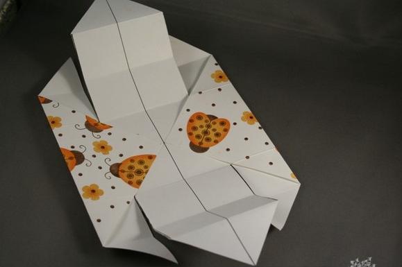 изготовление коробки из бумаги