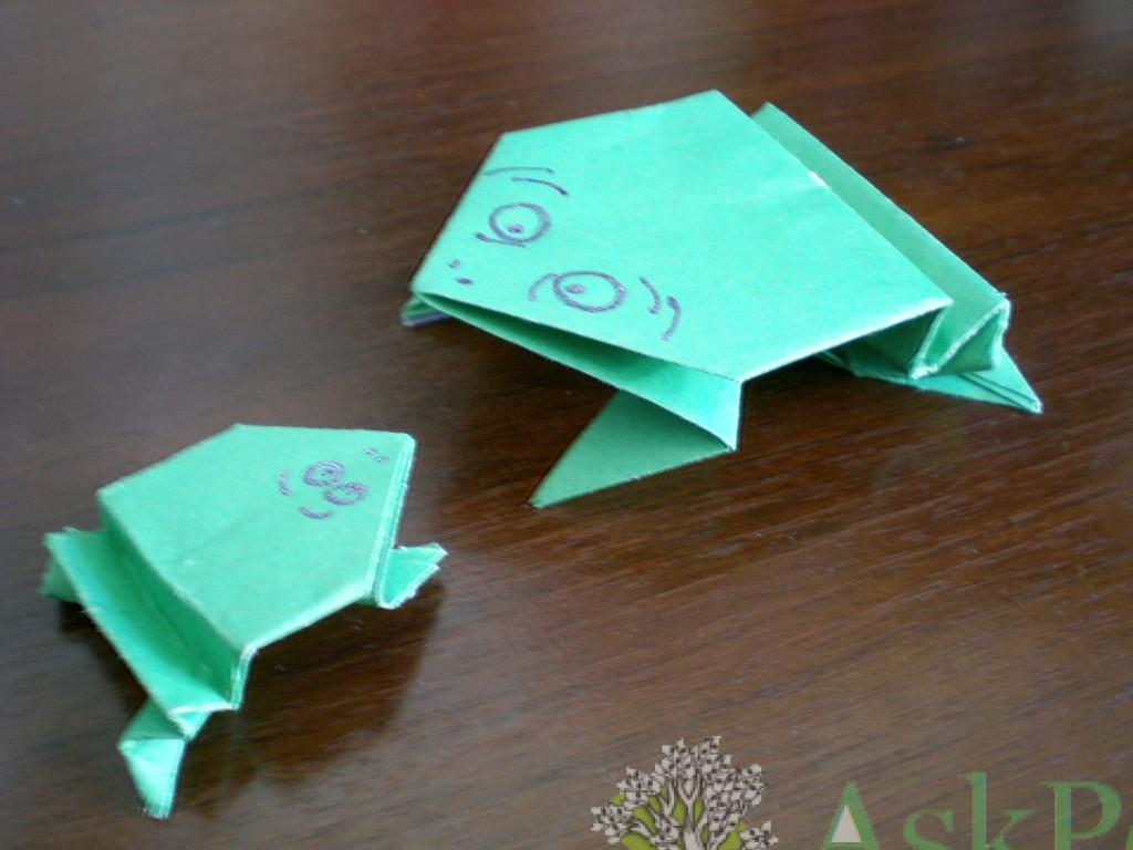 лягушка из бумаги своими руками