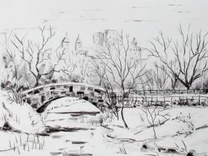 Как нарисовать снег карандашом