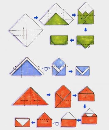 Сделать конверт бумаги своими руками