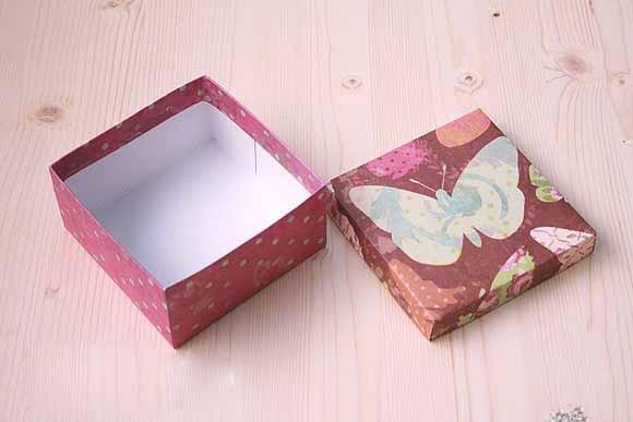 коробка из бумаги