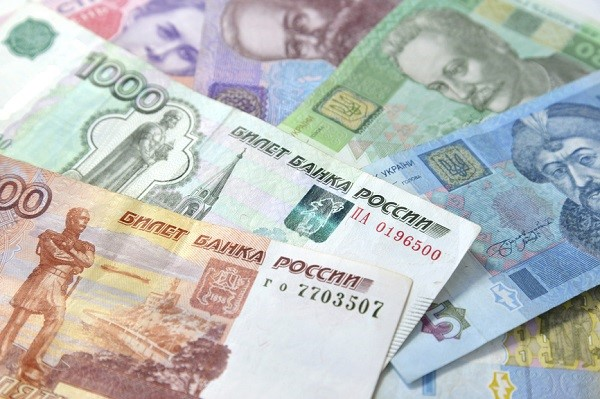 Russian and Ukrainian paper money