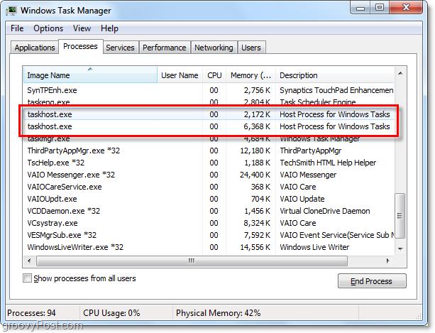 Что такое Task Host в Windows 7