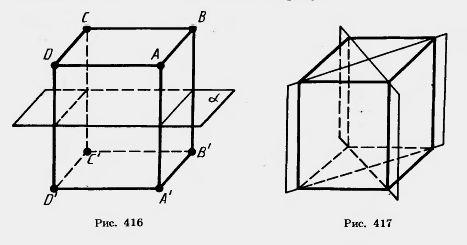 Центры симметрии паралелипипида