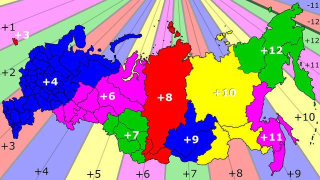 Какой в России часовой пояс