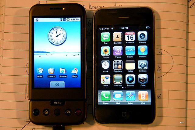 Выбор между iOS и Андроид.