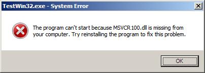 Как решить проблему отсутствия msvcr100.dll