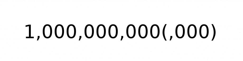 Как называется цифра с девятью нулями